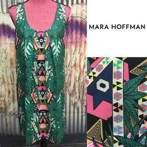 Mara Hoffman palm neon tribal print Dress